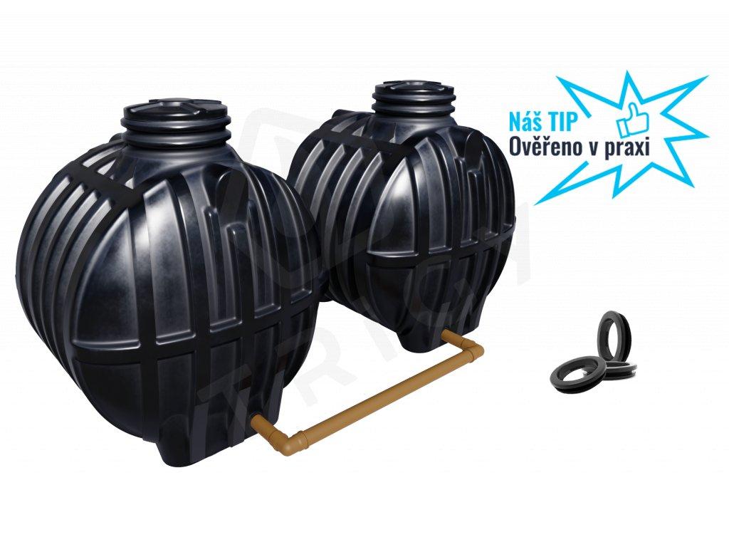 Plastová retenční akumulační nádrž na dešťovou vodu Smart 10000 L