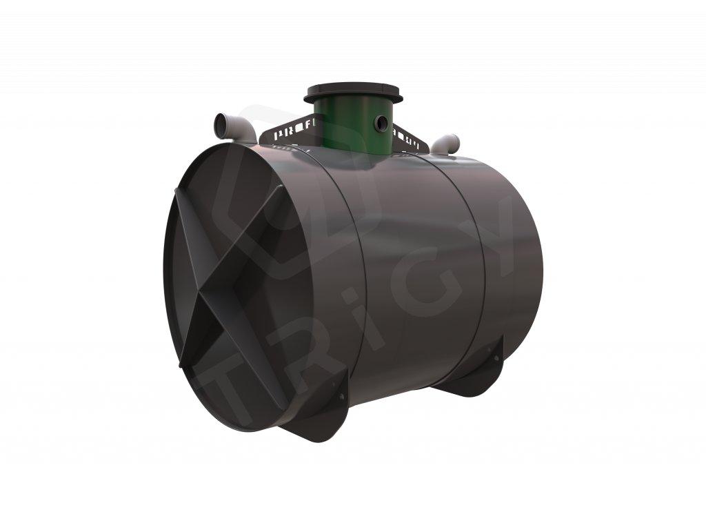 Plastová retenční akumulační nádrž na dešťovou vodu Profi 6000 L