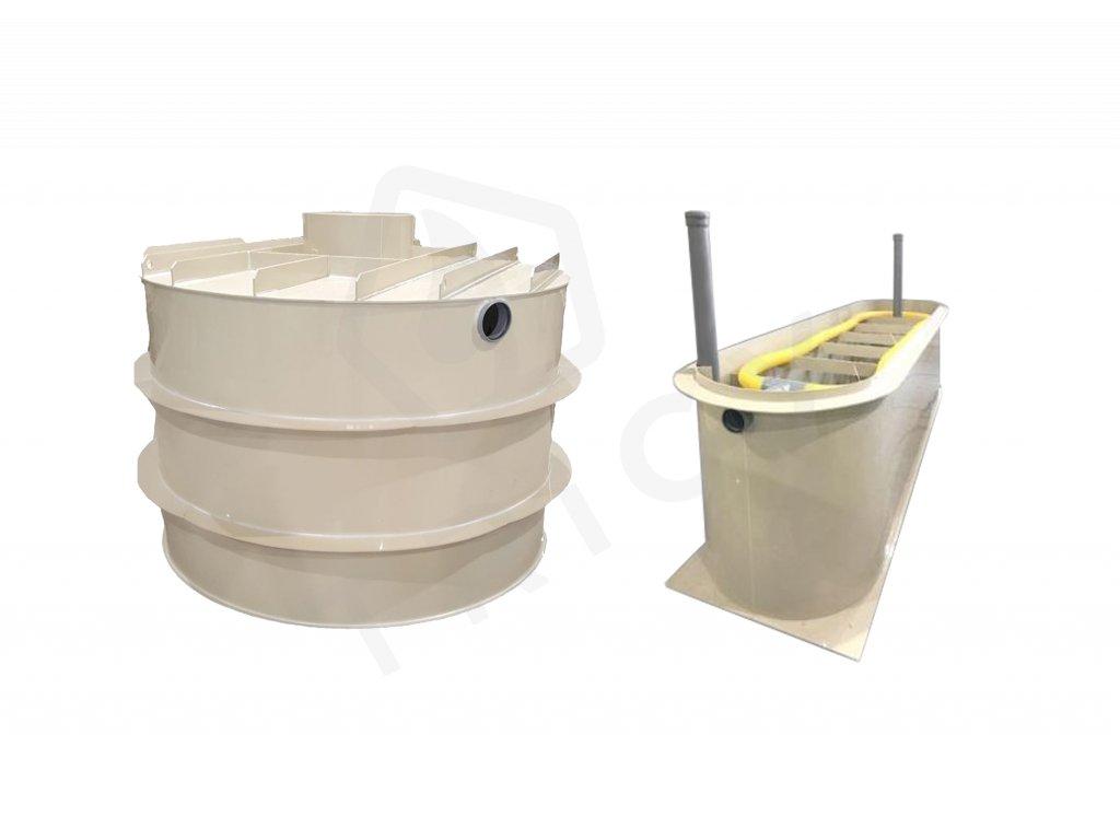 Septik samonosný kruhový SSK 6 000 L s ZPF filtrem