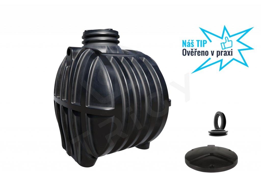 Plastová retenční akumulační nádrž na dešťovou vodu Smart 5000 L