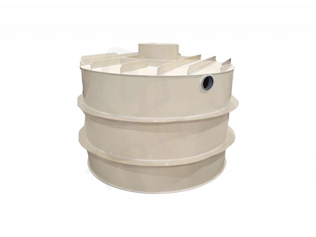 Plastová retenční akumulační nádrž na dešťovou vodu RNSK 4000 L