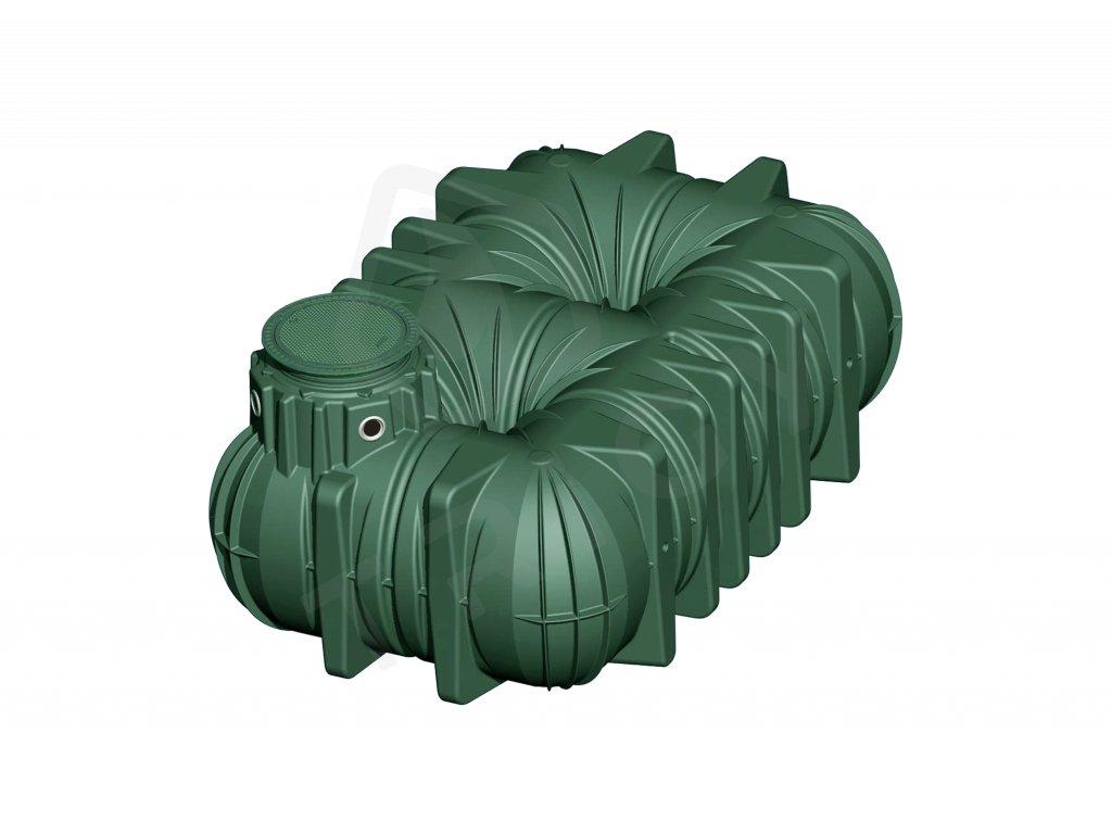 Plastová retenční akumulační nádrž na dešťovou vodu Li Lo 7500 L