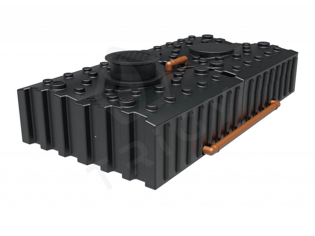 Plastová retenční akumulační nádrž na dešťovou vodu Aqua 8000 L