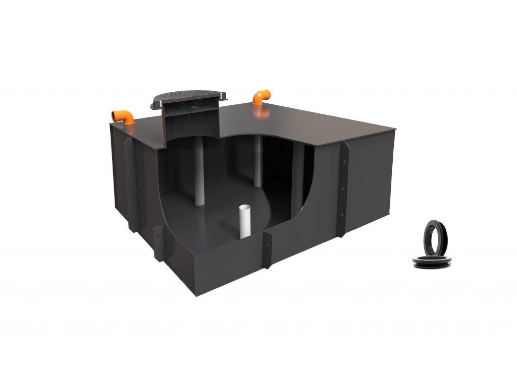 Plastová retenční akumulační nádrž na dešťovou vodu Planus 4 - 3 860 L