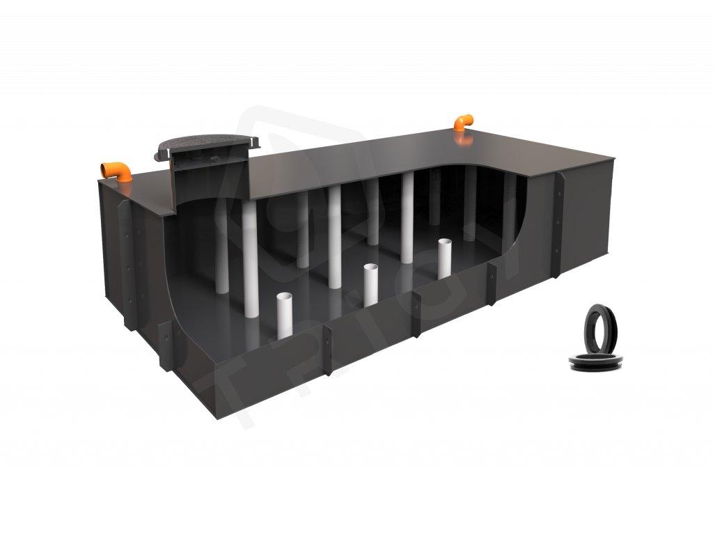 Plastová retenční akumulační nádrž na dešťovou vodu Planus 8 - 7 760 L
