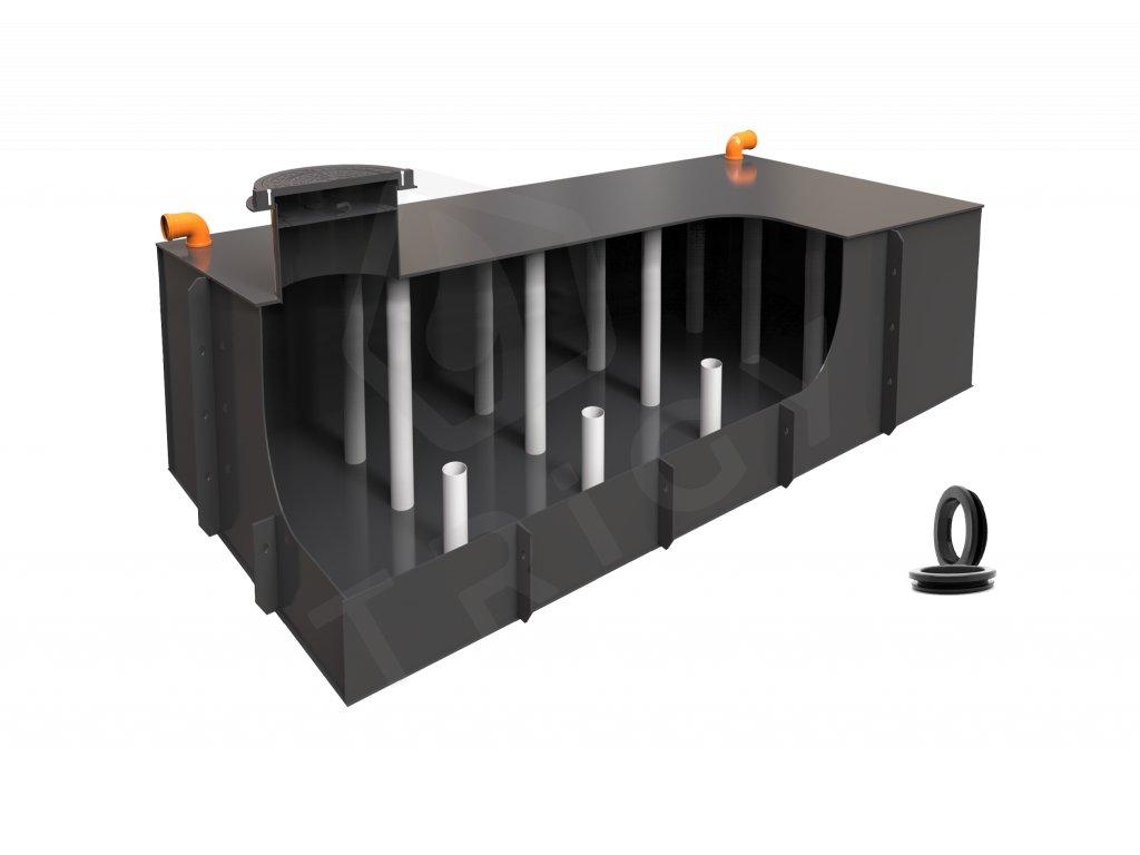Plastová retenční akumulační nádrž na dešťovou vodu Planus 10 - 9 700 L