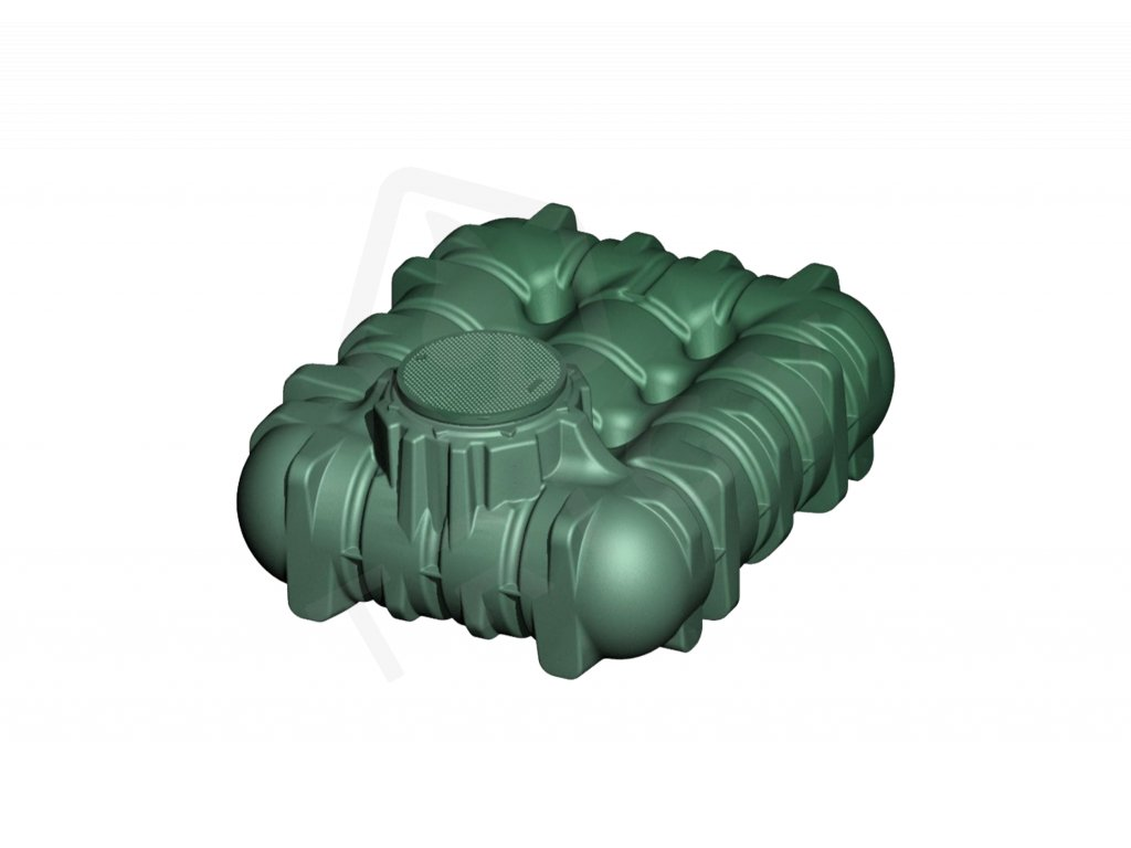 Plastová retenční akumulační nádrž na dešťovou vodu Li Lo 3000 L