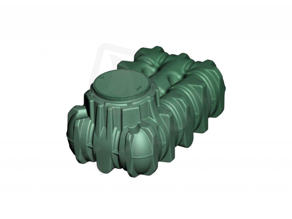 Plastová retenční akumulační nádrž na dešťovou vodu Li Lo 1500 L