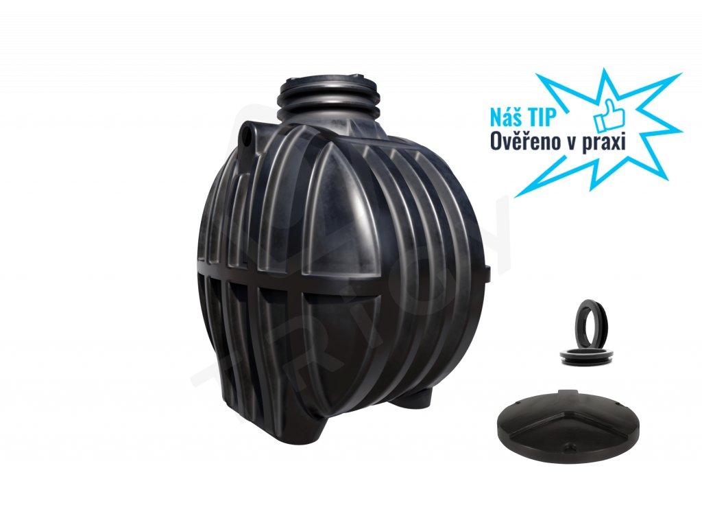 Plastová retenční akumulační nádrž na dešťovou vodu Smart 3600 L
