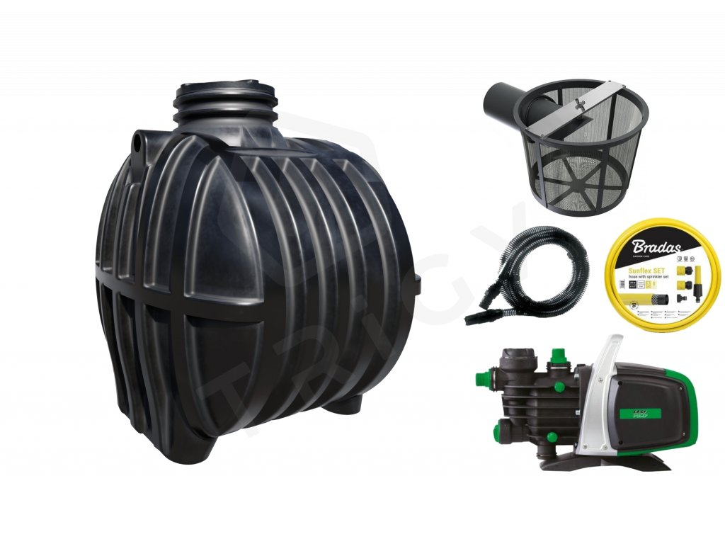 Plastová retenční akumulační nádrž na dešťovou vodu Smart 5 000 L