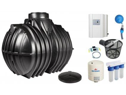 Sada plastové retenční akumulační nádrže na dešťovou vodu Atlantis 7000 L