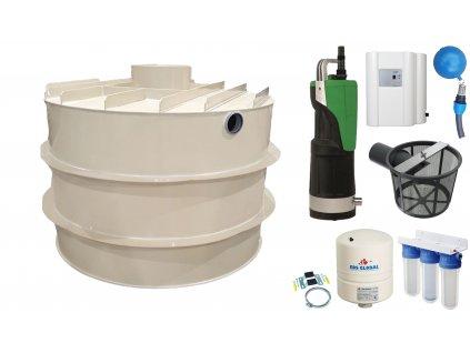 Sada plastové retenční akumulační nádrže na dešťovou vodu RNSK 6000 L