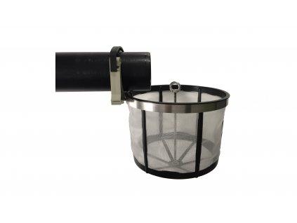 Filtrační koš do akumulační nádrže připevnění na přítokovou rouru I