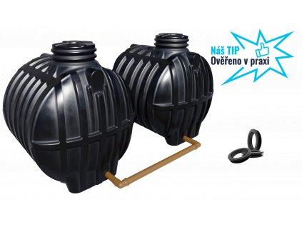 Plastová retenční akumulační nádrž na dešťovou vodu Smart 12000 L