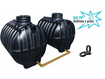 Plastová retenční akumulační nádrž na dešťovou vodu Smart 14000 L