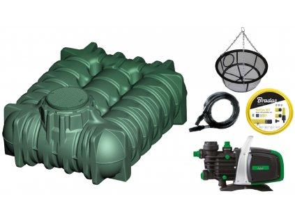Plastová retenční akumulační nádrž na dešťovou vodu LiLo 7 500 L