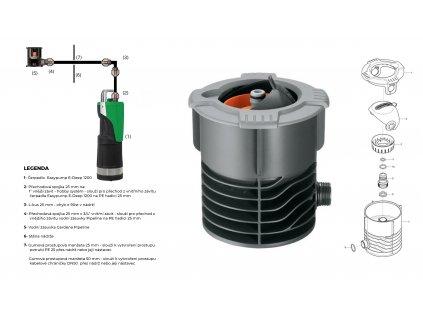 Sada plastové retenční akumulační nádrže na dešťovou vodu Li Lo 7 500 L