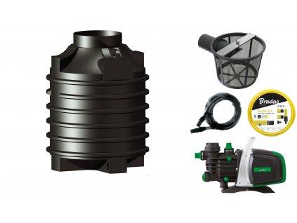 Sada plastové retenční akumulační nádrže na dešťovou vodu Clearo 1 500 L