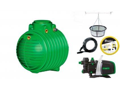 Sada plastové retenční akumulační nádrže na dešťovou vodu Columbus 4 500 L