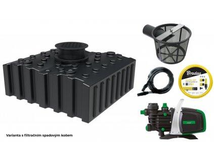 ové retenční akumulační nádrže na dešťovou vodu Aqua 4000 L s filtračním košem