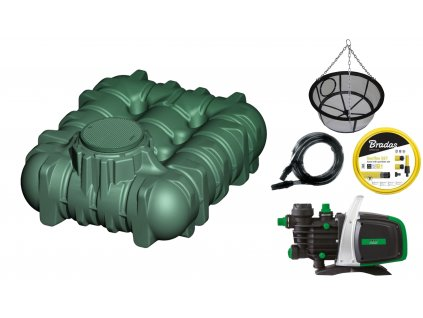 Sada plastové retenční akumulační nádrže na dešťovou vodu LiLo 3 000 L