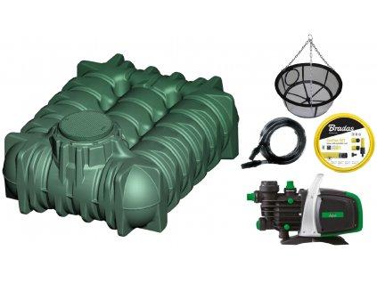 Plastová retenční akumulační nádrž na dešťovou vodu LiLo 5 000 L