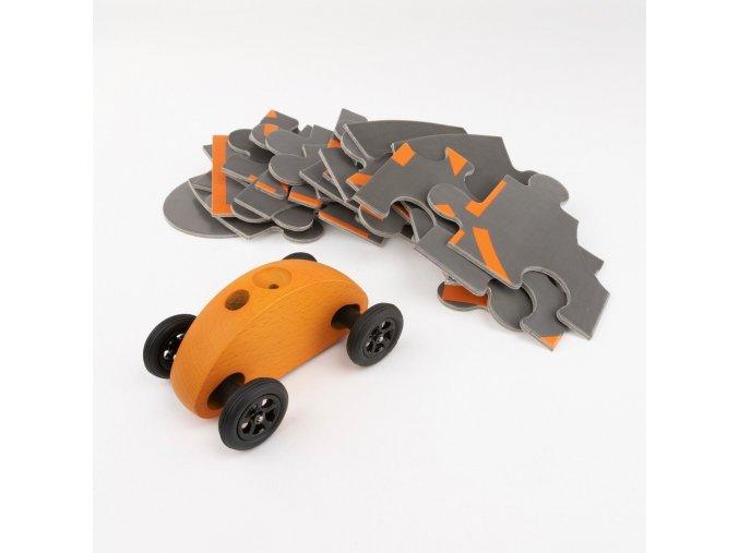 03 fingercar orange puzzleteile