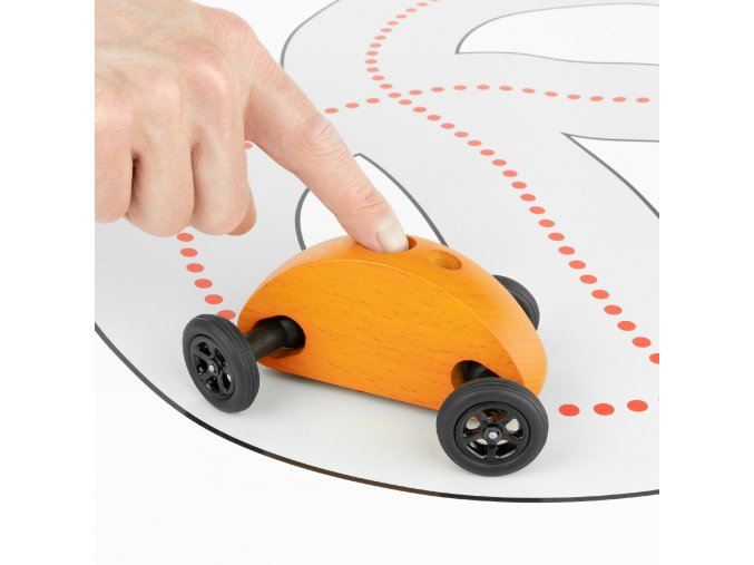04 Fingercar Orange Finger Fahrbahn