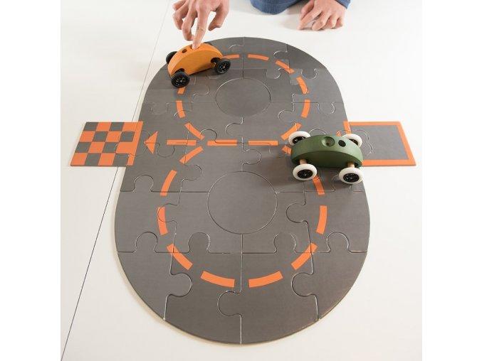 Závodní puzzle dráha k Finger Car