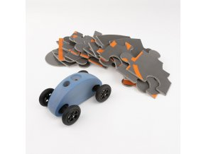 03 fingercar blau puzzleteile