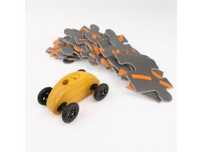 03 fingercar gelb puzzleteile