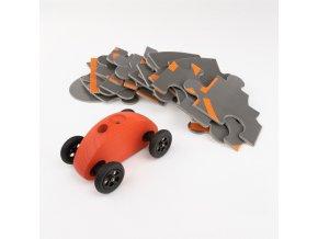 03 fingercar rot puzzleteile