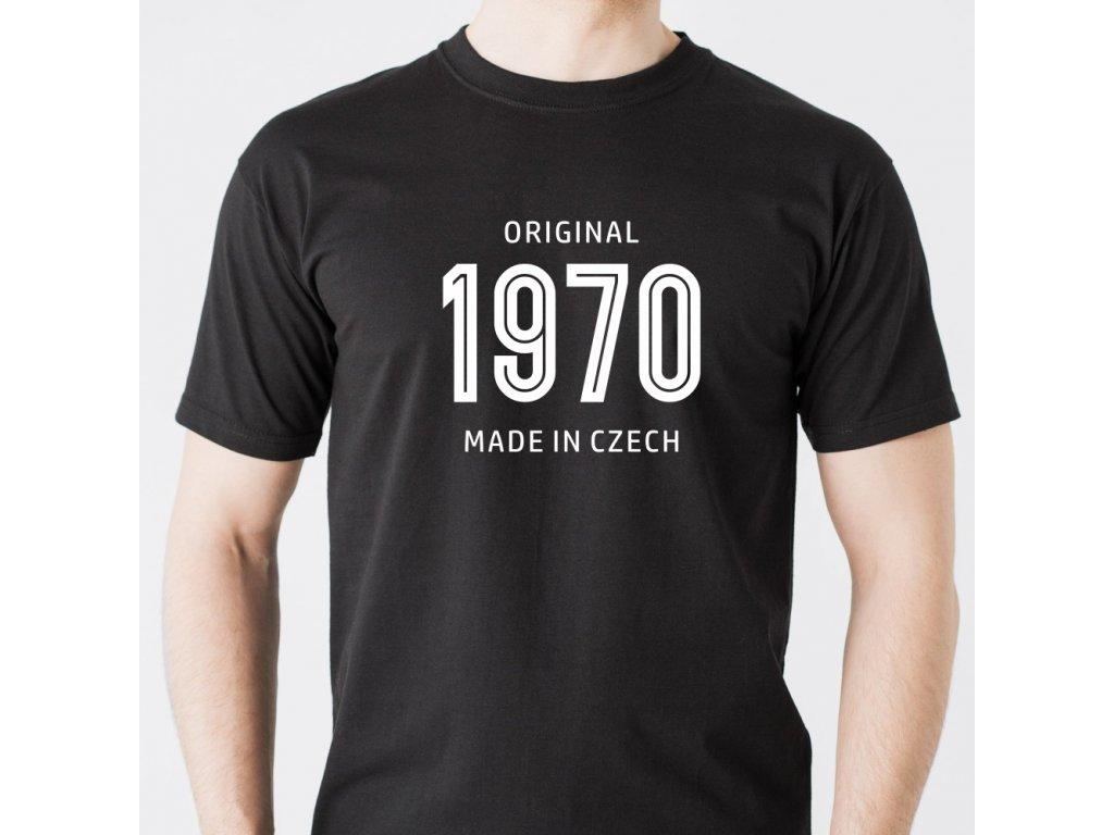 Pánské tričko k narozeninám MADE IN CZECH ROČNÍK narození 1960 1970 1980 1990 černé GM