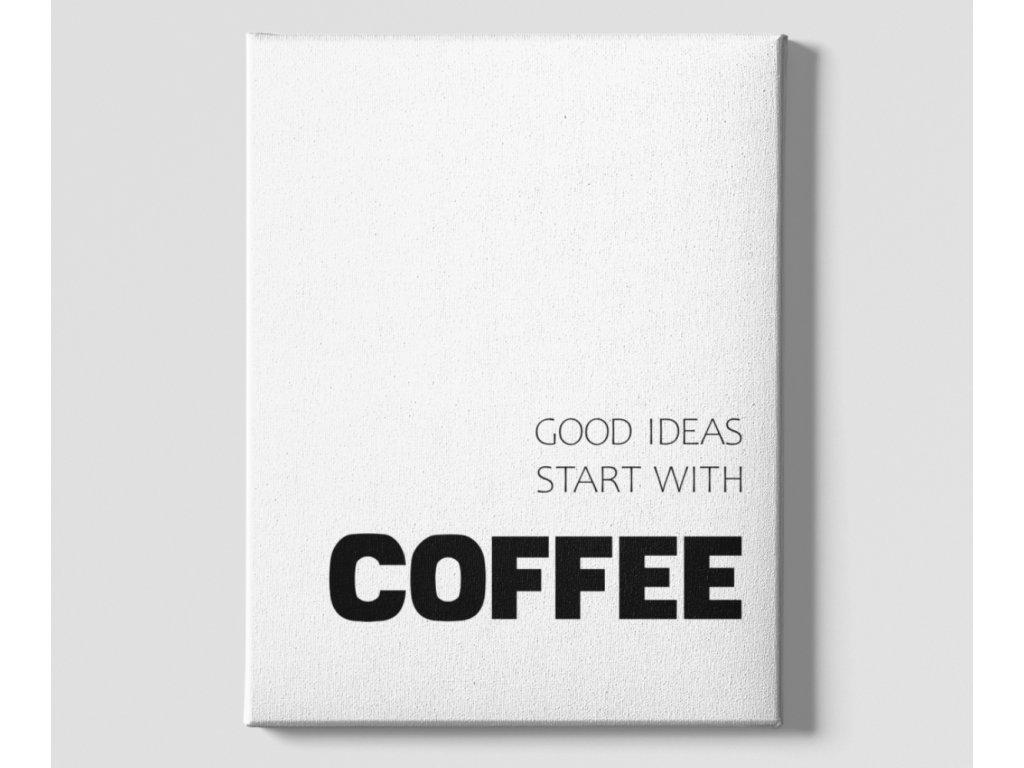 Dekorační obrázek na plátně Coffee ideas Minimalism top