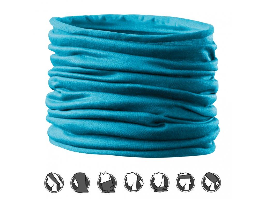 Multifunkční šátek triumph Tyrkysová ochrana obličeje