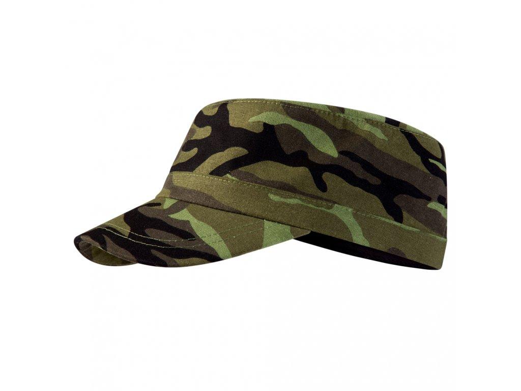 ARMY maskáčová čepice zelená unisex kamufláž 1