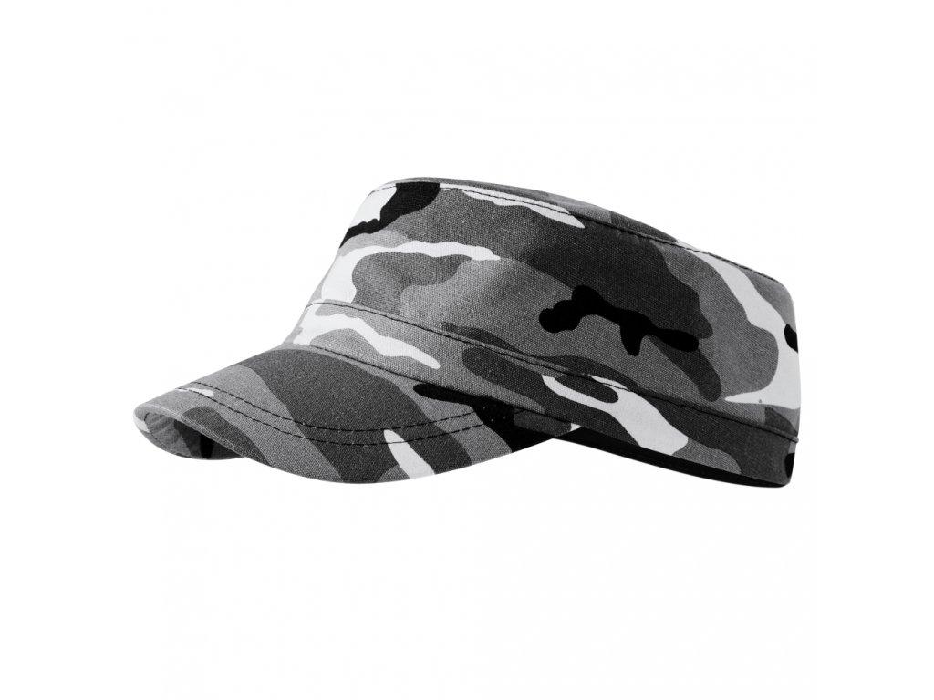 ARMY maskáčová čepice šedá unisex kamufláž 1