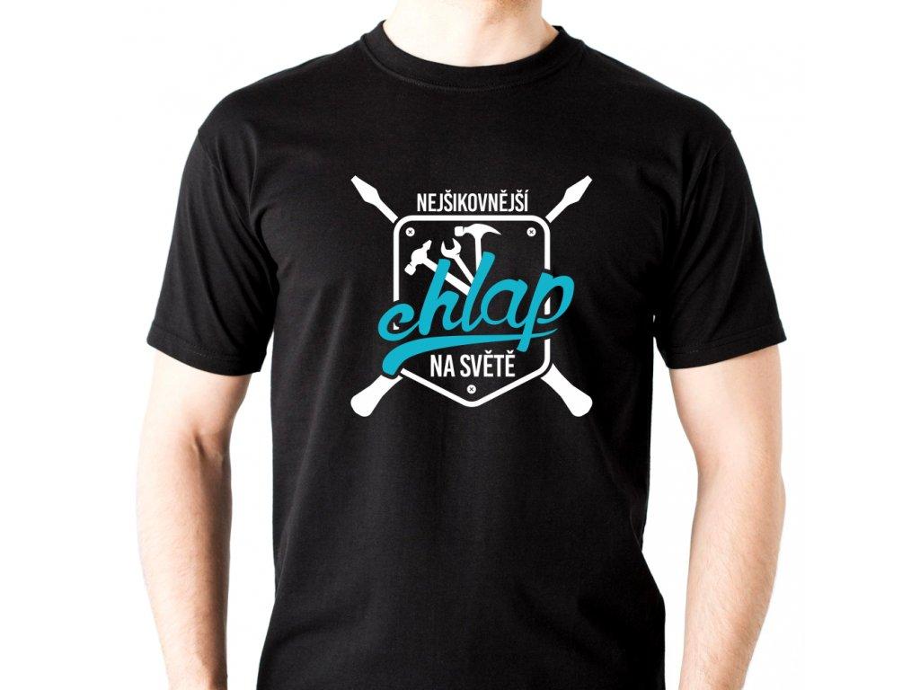 Pánské tričko Nejšikovnější CHLAP na světě Kutil černé