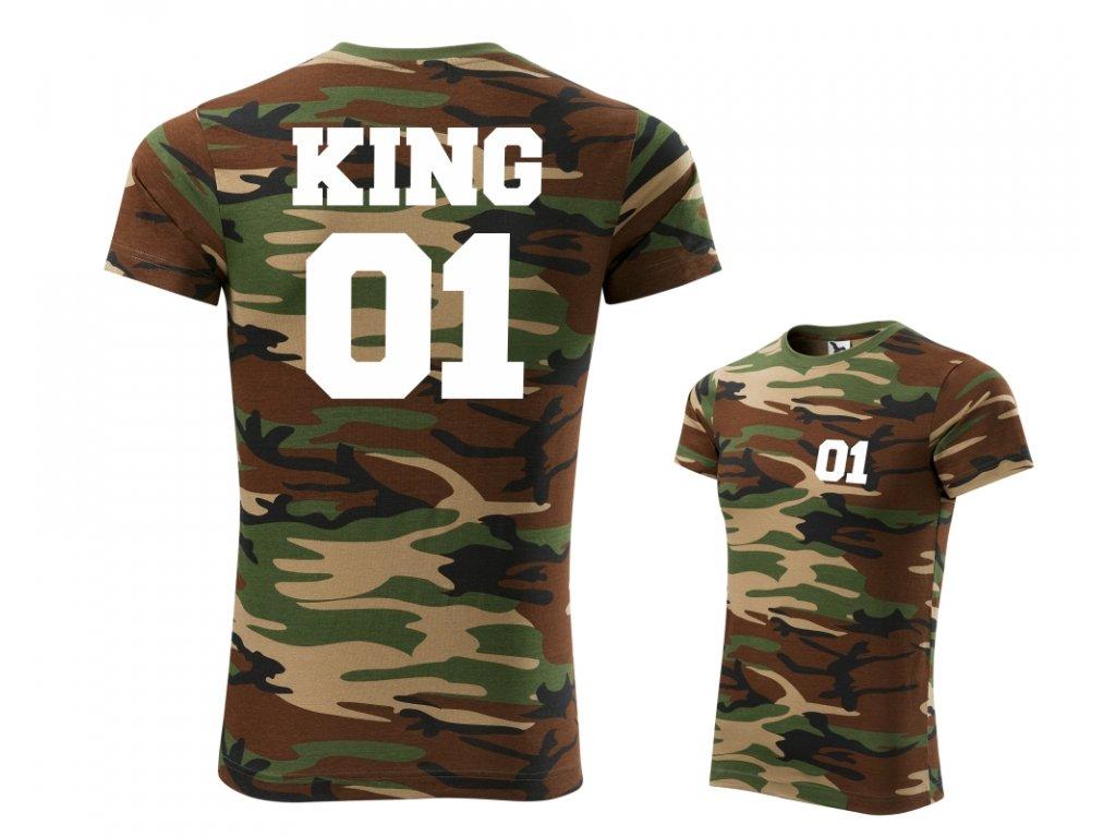 Pánské maskáčové tričko ARMY KING 00