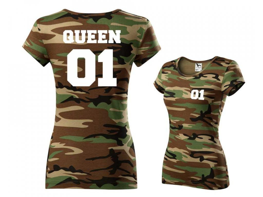 Dámské maskáčové tričko ARMY QUEEN