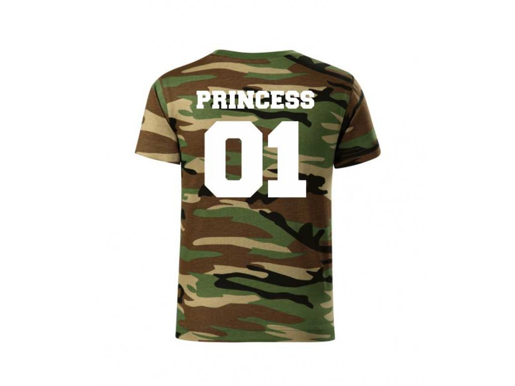 Dětské Dívčí Tričko ARMY PRINCESS - Trikoo.cz 8bac0bb15c