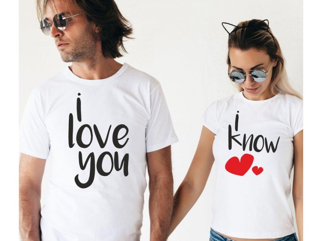 Trička pro páry I Love You FUN