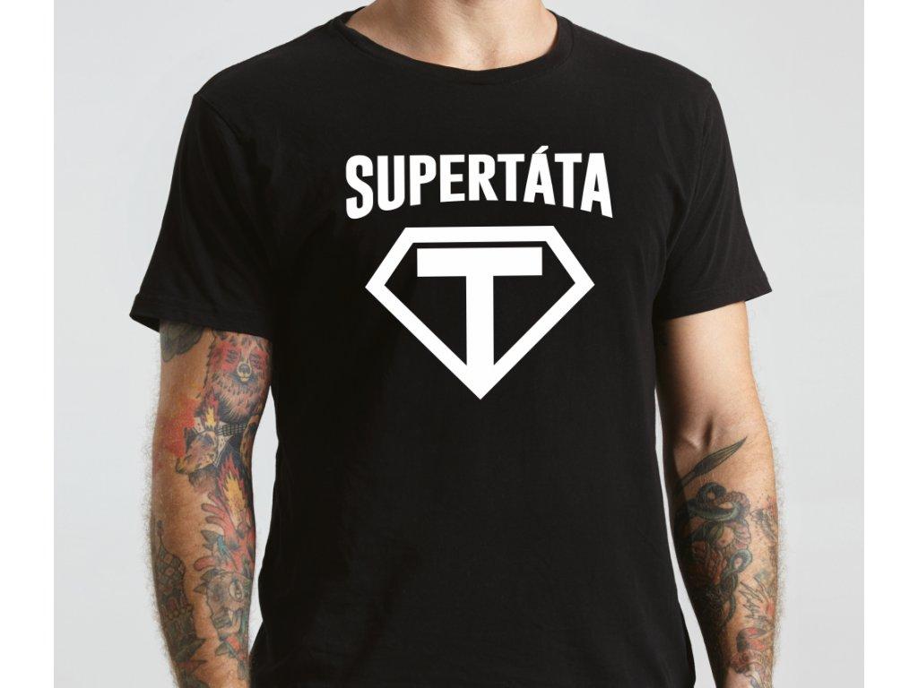 03991d471f50 Tričko SUPER TÁTA Černé - Trikoo.cz