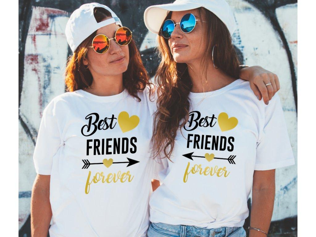 Trička pro kamarádky BFF Best Friends Forever Modern