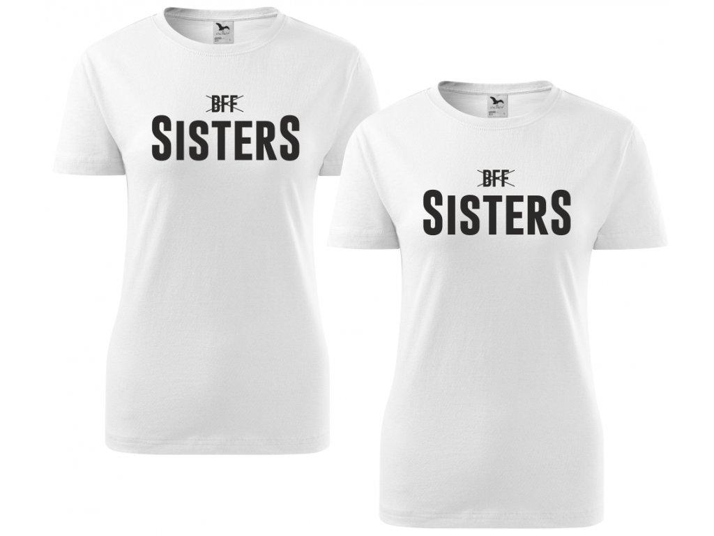 ead07601a34 ... Trička pro kamarádky BFF SisterS HIGH černé 2 ...