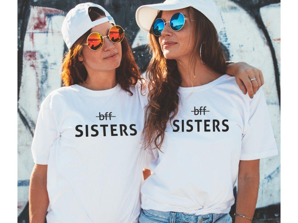 Trička pro kamarádky BFF Sisters WIDE černé