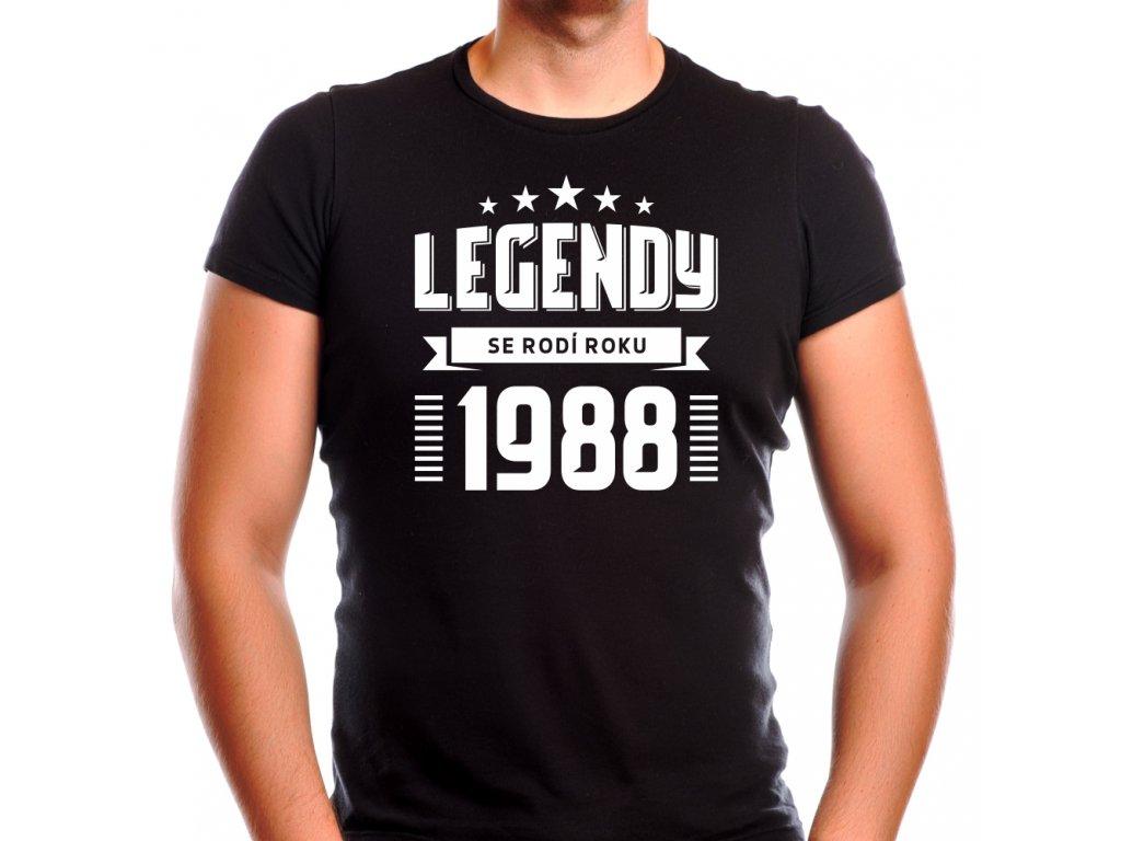 Pánské tričko zrození legendy ročník narození černé