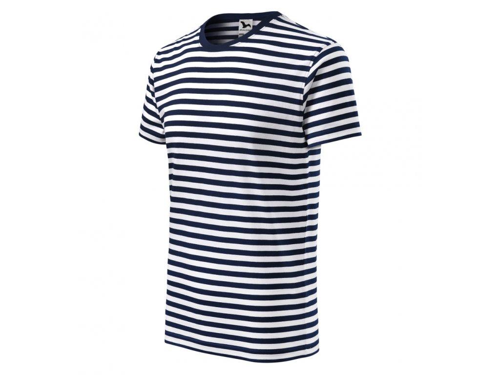 pánské vodácké tričko s proužky bez potisku