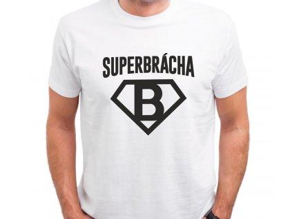 Tričko s potiskem pro bratra SUPER BRÁCHA bílé s černým potiskem