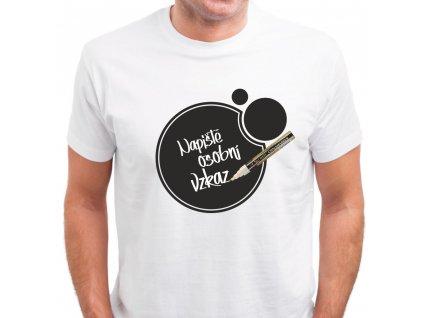 Popisovatelné tričko pánské BUBBLE + bílý FIX